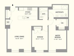 floorplan for 55 West 17th Street #703
