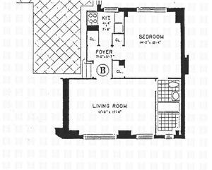 floorplan for 30 West 90th Street #1B