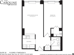 floorplan for 60 West 23rd Street #530