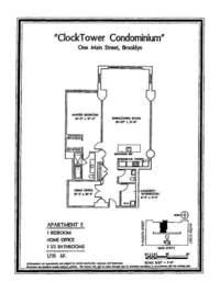 floorplan for 1 Main Street #5E