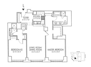 floorplan for 15 Central Park West #8L