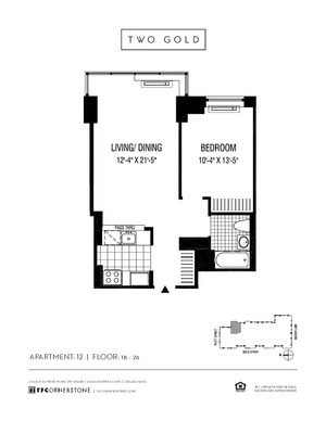floorplan for 2 Gold Street #2412