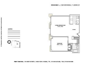 floorplan for 75 West Street #5L