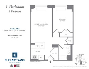 floorplan for 227 West 77th Street #16D