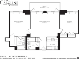 floorplan for 60 West 23rd Street #1403