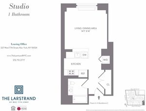 floorplan for 227 West 77th Street #5C