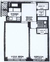 floorplan for 715 Park Avenue #9C