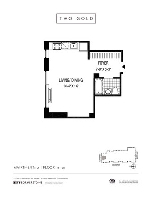 floorplan for 2 Gold Street #2410