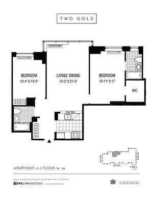 floorplan for 2 Gold Street #1813