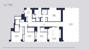 floorplan for 157 West 57th Street #43C