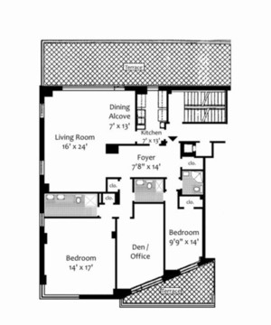 floorplan for 715 Park Avenue #18B