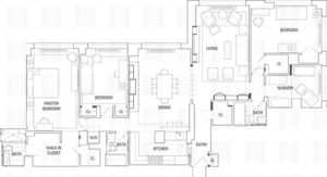floorplan for 30 East 85th Street #5G