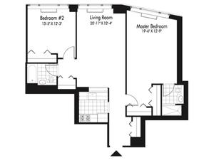 floorplan for 601 West 57th Street #34A
