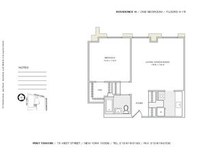 floorplan for 75 West Street #7H