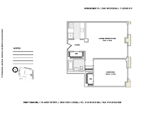 floorplan for 75 West Street #6P
