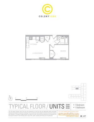 floorplan for 1209 Dekalb Avenue #308