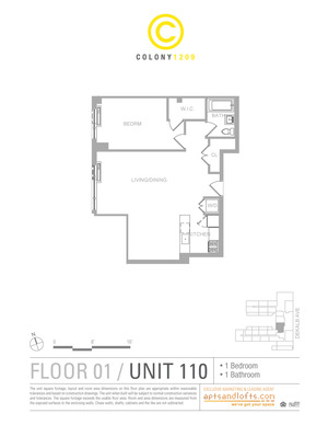 floorplan for 1209 Dekalb Avenue #110