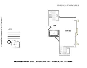 floorplan for 75 West Street #3G
