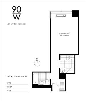 floorplan for 90 Washington Street #17K