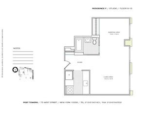 floorplan for 75 West Street #9F
