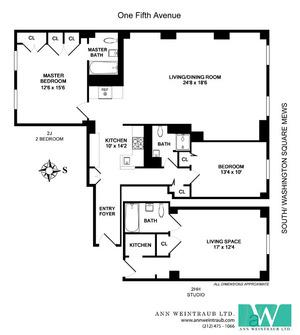 floorplan for 1 Fifth Avenue #2HHJ