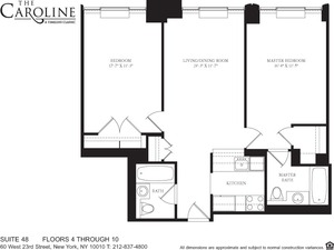 floorplan for 60 West 23rd Street #648
