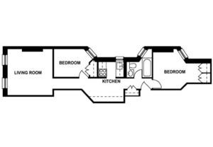 floorplan for 306 East 92nd Street #4E