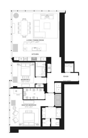 floorplan for 157 West 57th Street #37B