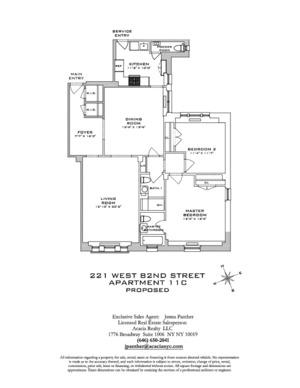 floorplan for 221 W 82nd Street #11C