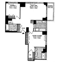 floorplan for 422 East 72nd Street #19C