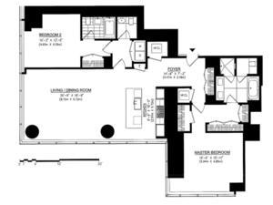 floorplan for 157 West 57th Street #40C