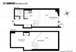 floorplan for 211 Thompson Street #PHE