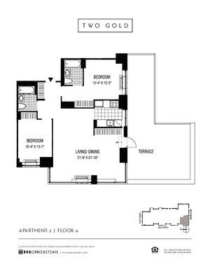 floorplan for 2 Gold Street #603
