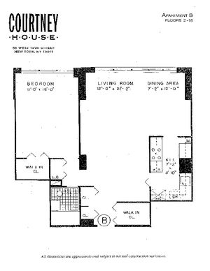 floorplan for 55 West 14th Street #17B