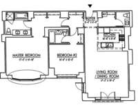 floorplan for 15 Central Park West