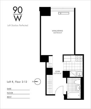 floorplan for 90 Washington Street #8R