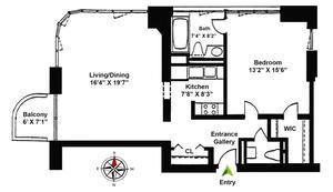 floorplan for 52 East End Avenue #21C