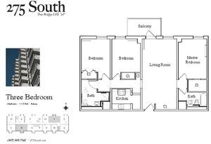floorplan for 275 South Street #4J