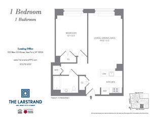 floorplan for 227 West 77th Street #8E