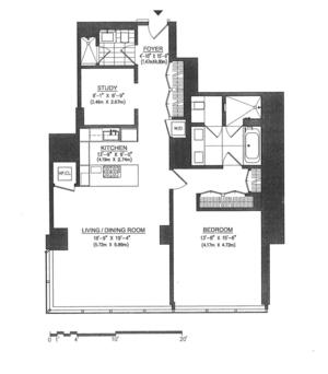 floorplan for 157 West 57th Street #40E