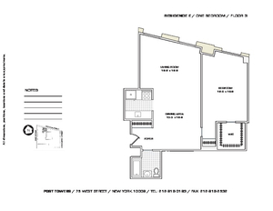 floorplan for 75 West Street #3E