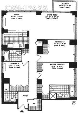 floorplan for 422 East 72nd Street #20A
