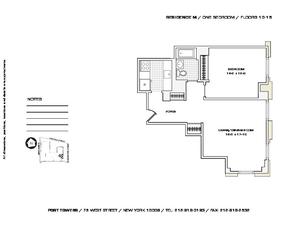 floorplan for 75 West Street #12M