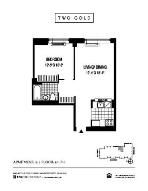 floorplan for 2 Gold Street #3713
