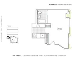 floorplan for 75 West Street #8G